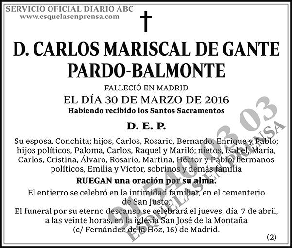 Carlos Mariscal de Gante Pardo-Balmonte